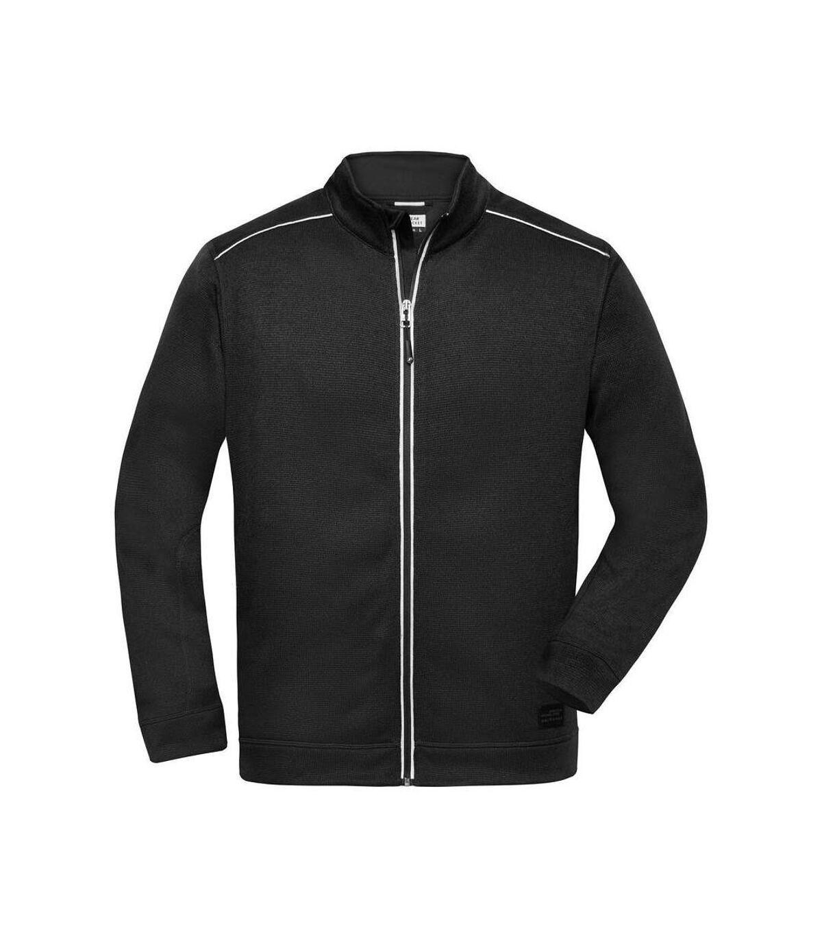 Veste zippée polaire workwear - homme - JN898 - noir
