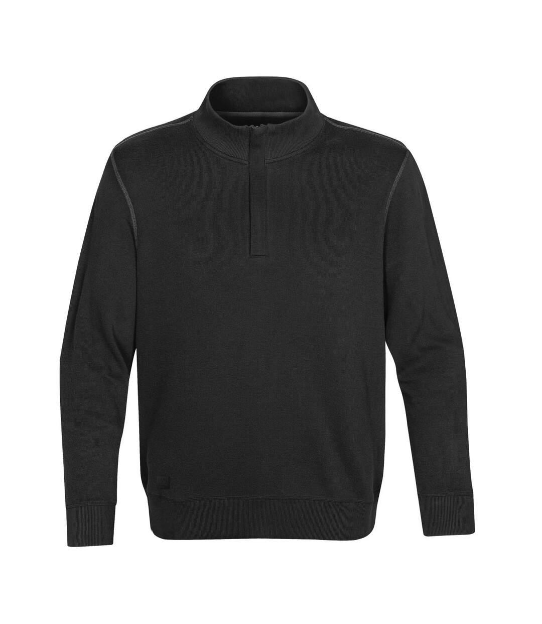 Stormtech Mens Hanford 1/4 Zip Mock Neck Jumper/Sweatshirt (Black/Charcoal) - UTBC3069