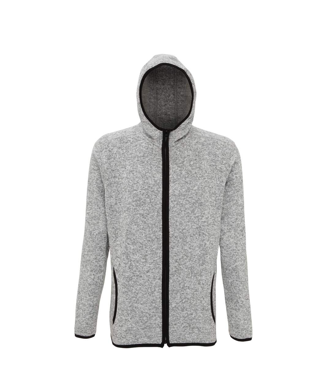 Tri Dri Mens Melange Knit Fleece Jacket (Heather Grey/Black Fleck) - UTRW5459