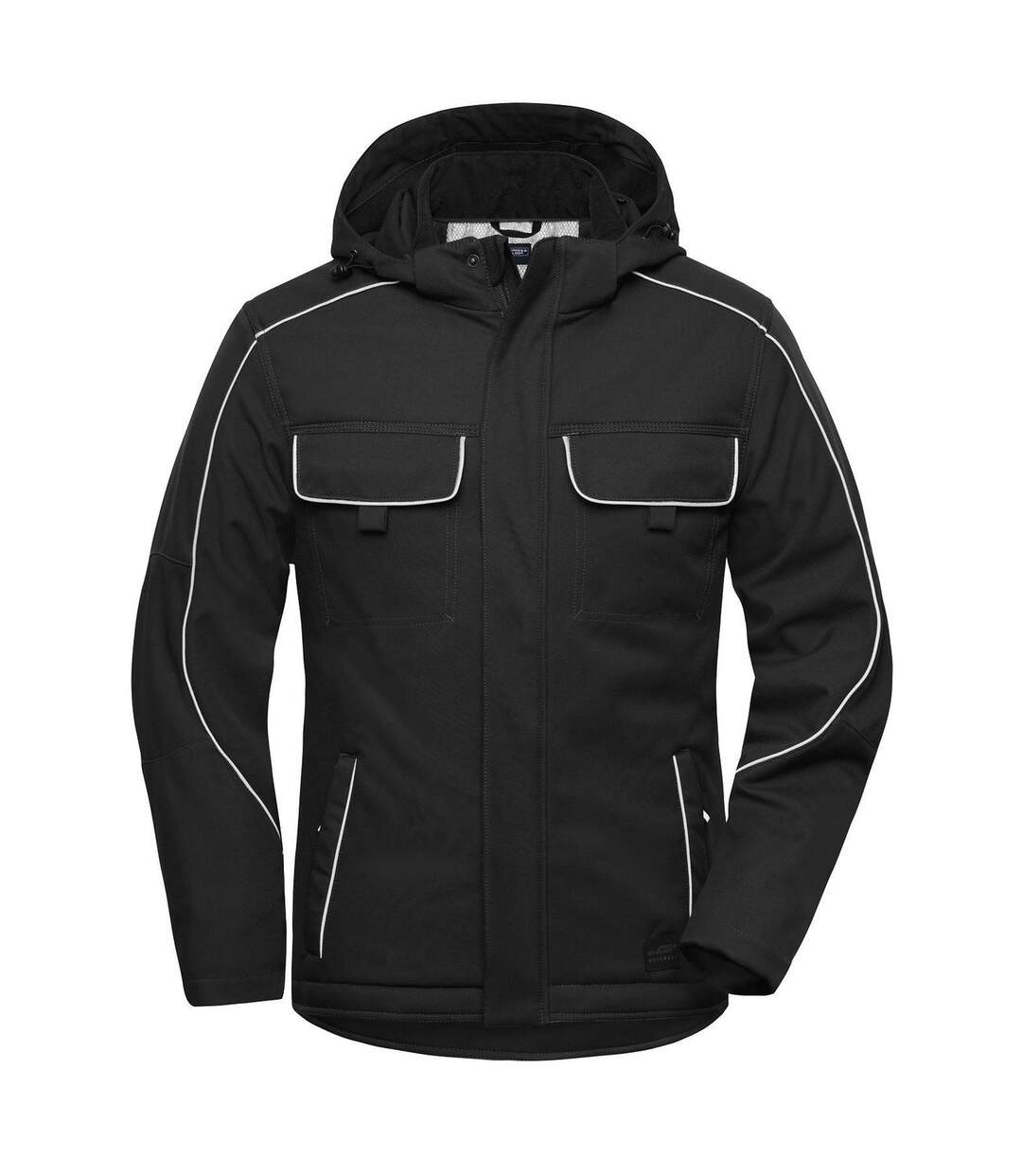 Veste blouson de travail rembourrée softshell - JN886 - noir