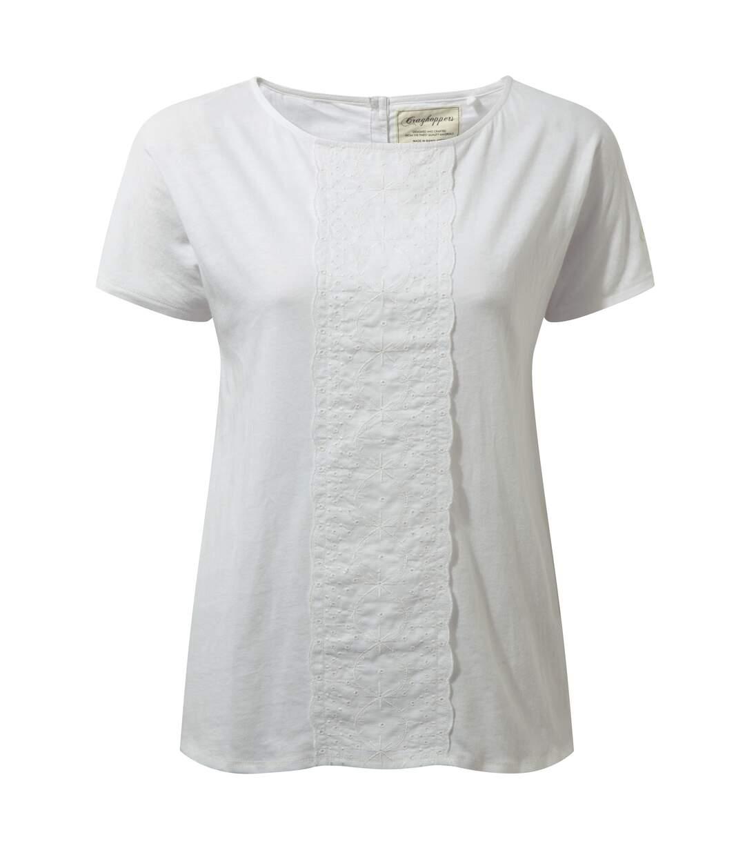 Craghoppers Connie - T-Shirt Léger À Manches Courtes - Femme (Blanc) - UTCG650