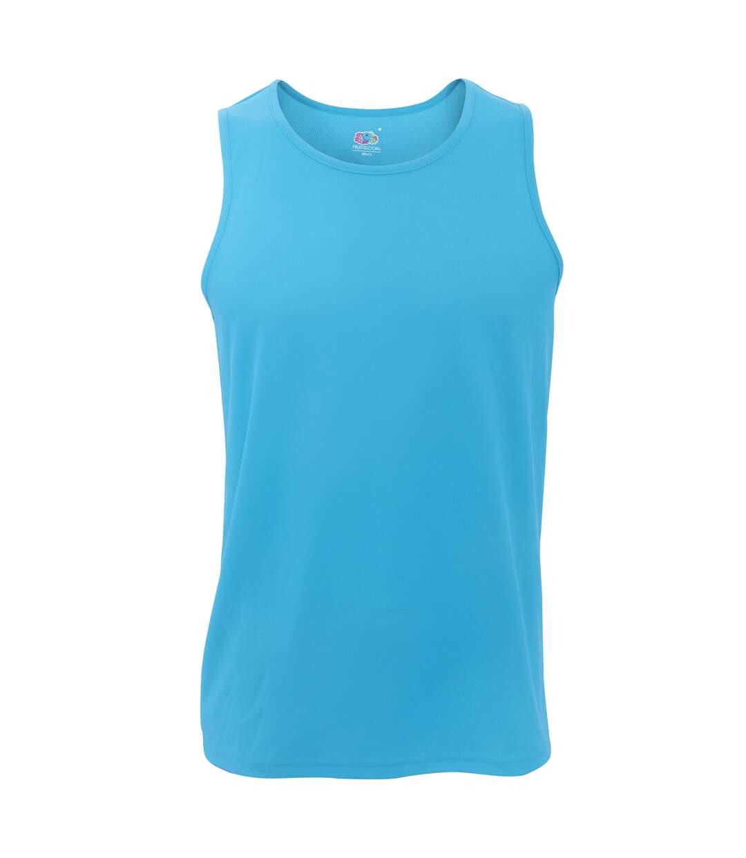 Fruit Of The Loom Mens Moisture Wicking Performance Vest Top (Azure Blue) - UTRW4705