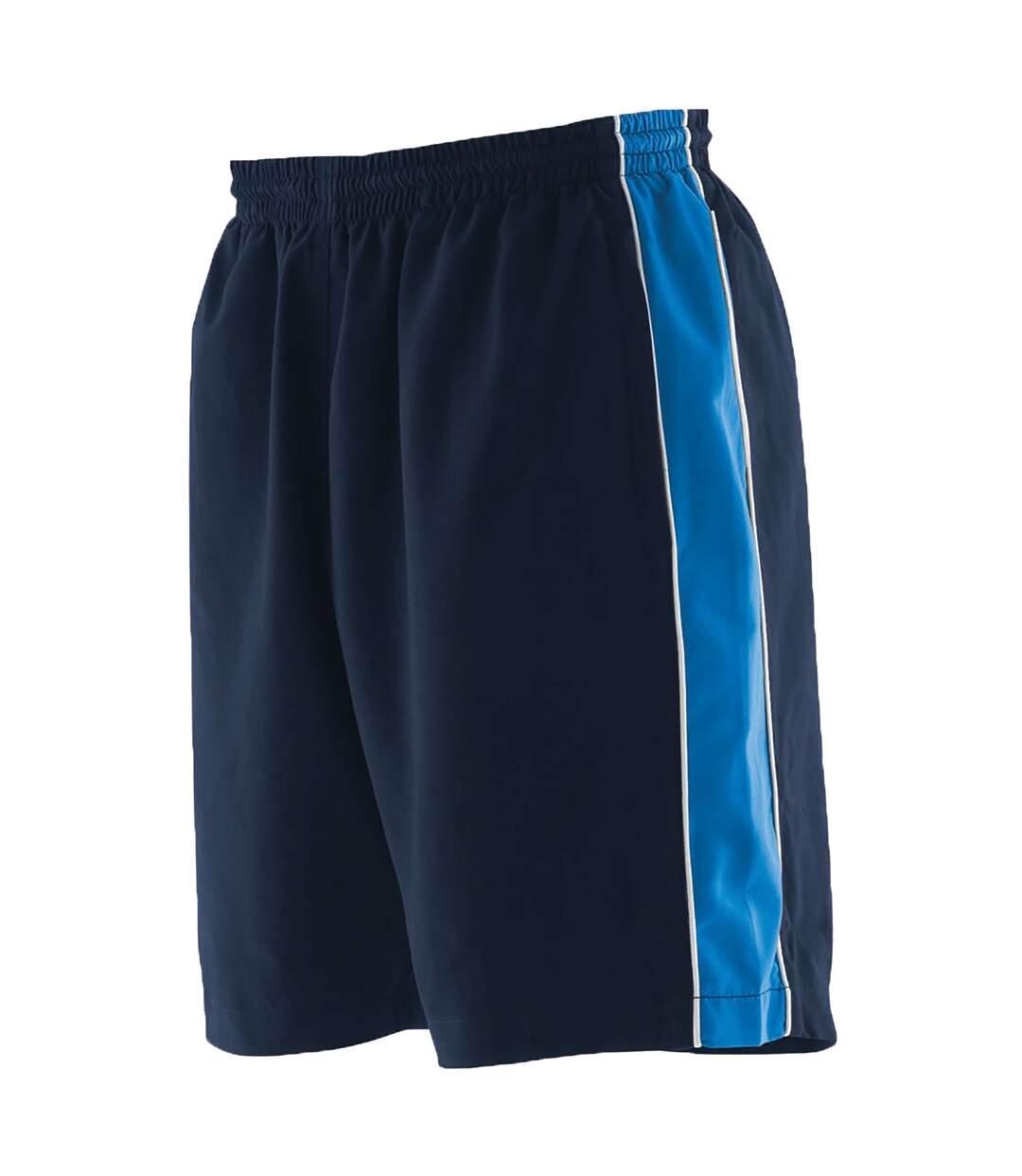 Finden & Hales - Short de sport - Homme (Bleu marine/Bleu roi/Blanc) - UTRW458