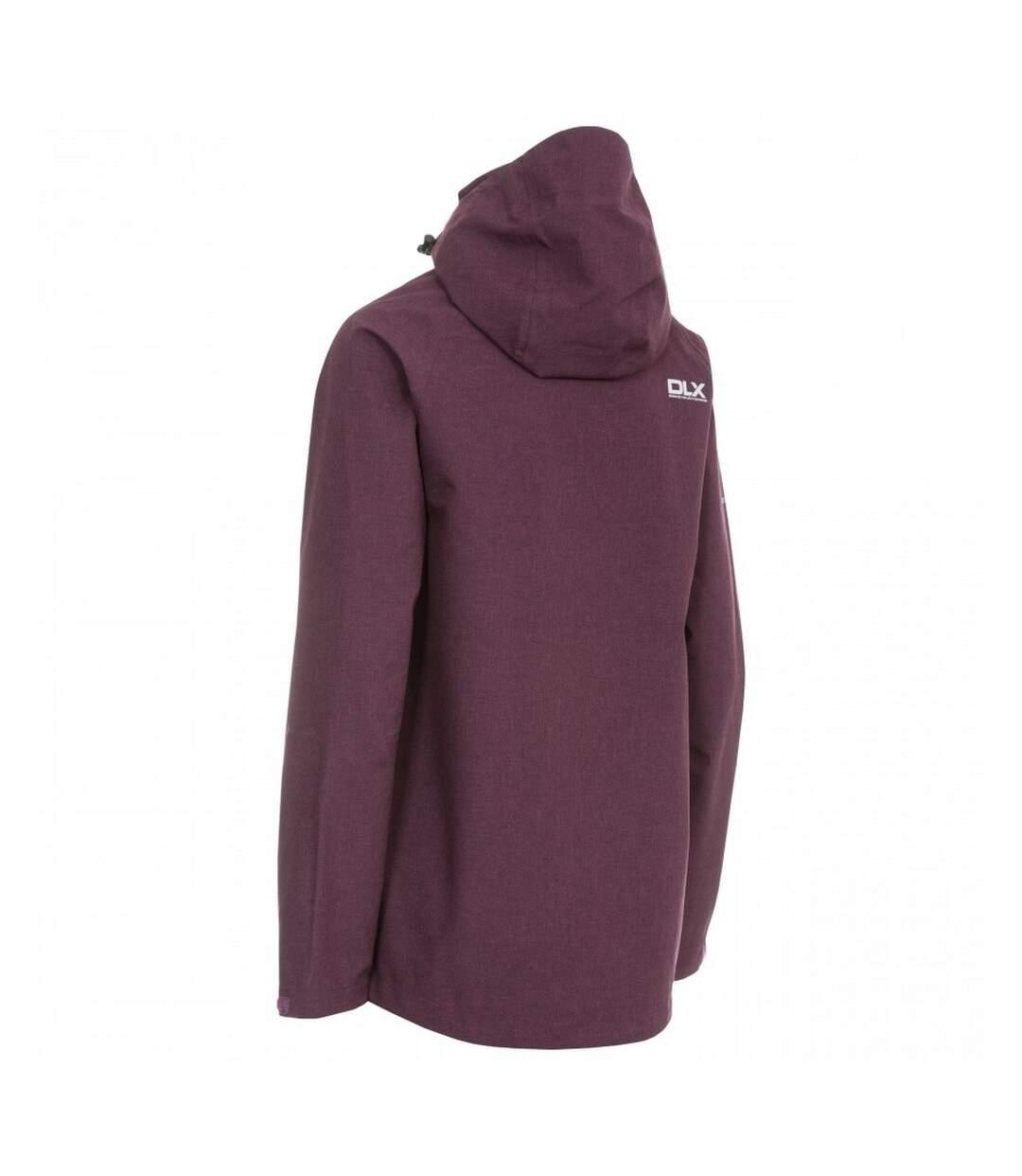 Trespass Womens/Ladies Gita II Waterproof Shell Jacket (Blackberry Marl) - UTTP4131