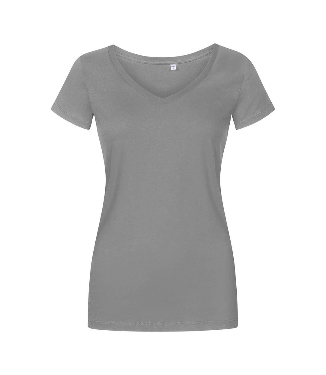 T-shirt col V grandes tailles Femmes