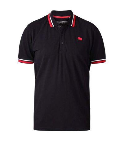 Duke Mens Allante D555 Double Tipped Pique Polo Shirt (Black) - UTDC295