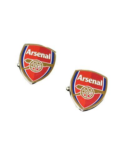 Arsenal FC - Boutons de manchette (Argent / rouge) (Taille unique) - UTSG6668