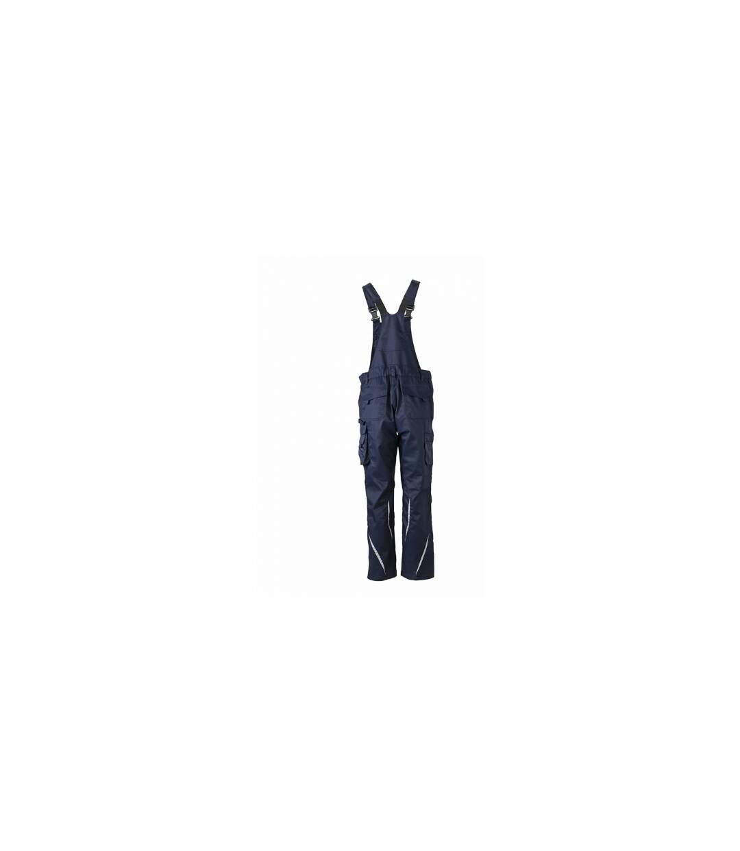 Pantalon de travail homme à bretelles - JN833 - bleu marine - salopette artisan