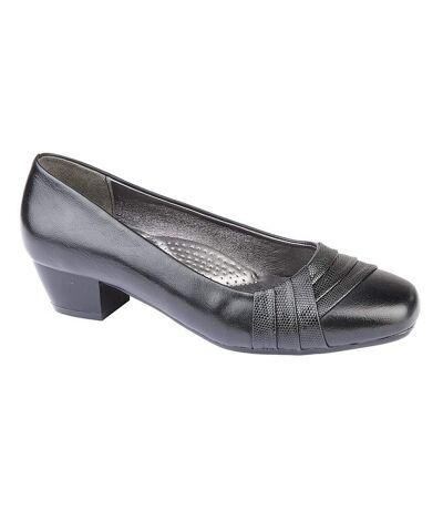 Boulevard Womens/Ladies Reptile Vamp Court Shoe (Black) - UTDF1462