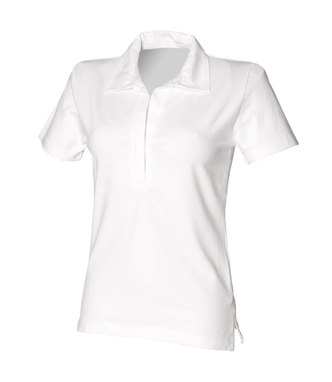 Front Row - T-Shirt De Rugby À Manches Courtes - Femme (Blanc) - UTRW505