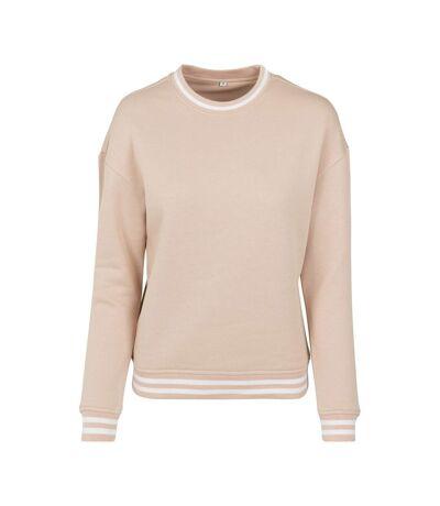 Build Your Brand Womens/Ladies Sweatshirt (Light Pink/White) - UTRW7813