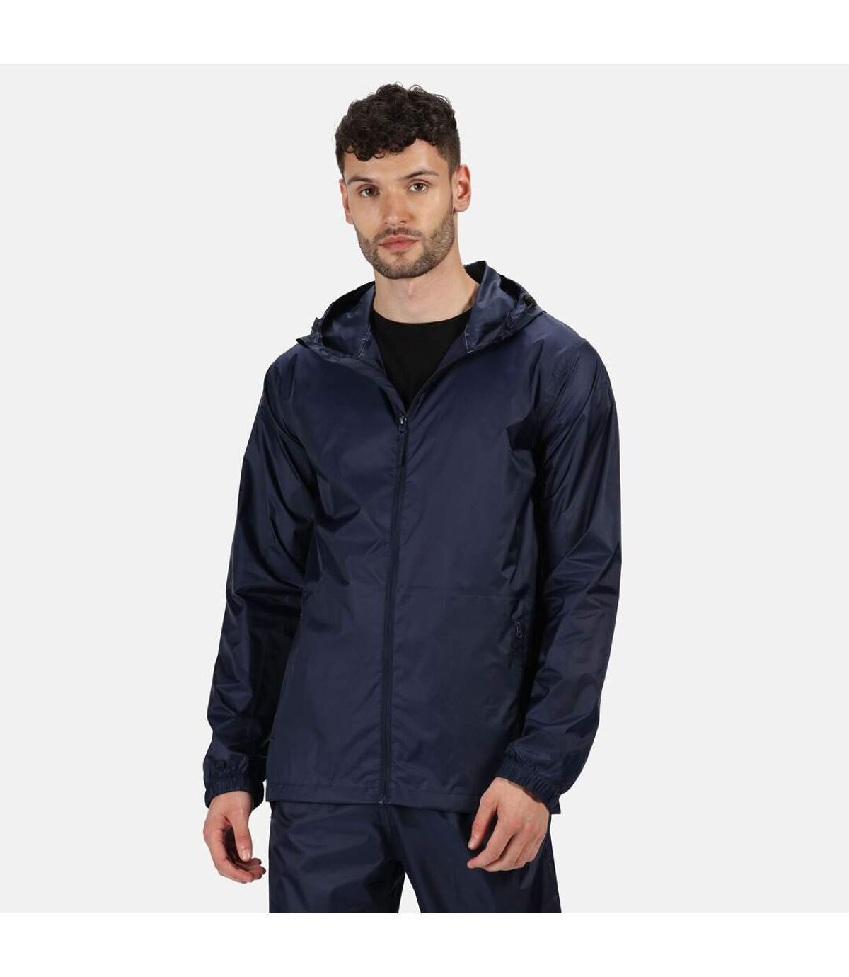 Regatta Pro Mens Packaway Waterproof Breathable Jacket (Navy) - UTPC2994