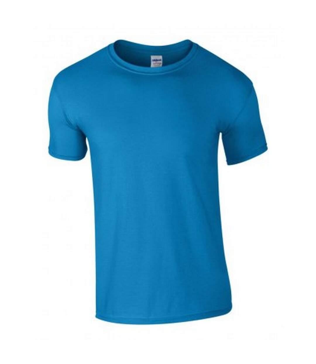 Gildan Mens Soft Style Ringspun T Shirt (Sapphire) - UTPC2882
