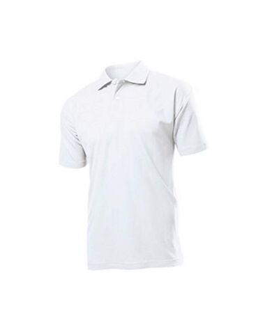 Stedman Mens Cotton Polo (White) - UTAB282