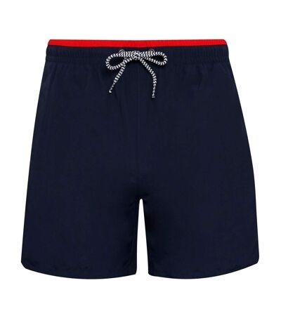 Asquith & Fox Mens Swim Shorts (Black/Royal) - UTRW6242