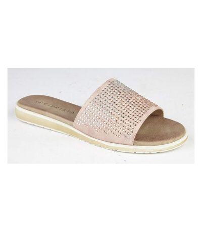 Cipriata Womens/Ladies Diamante Mule Sandals (Rose Gold) - UTDF1762