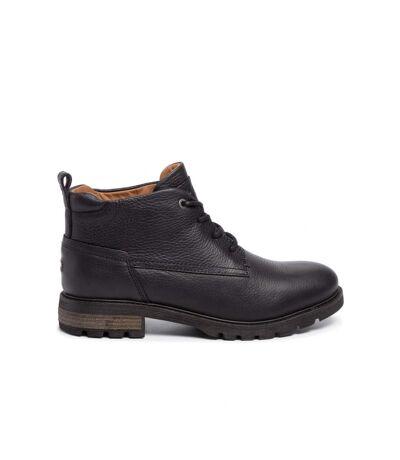 Boots fourrés en cuir   -  Tommy Hilfiger - Homme