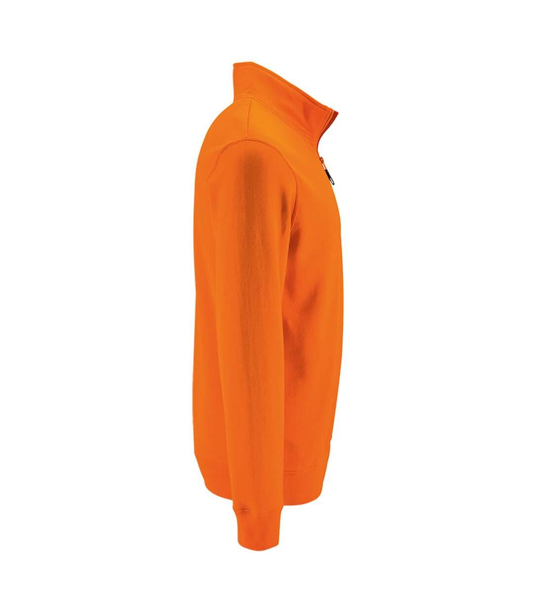 Dégagement Sols Pull Zippé Stan Homme Orange UTPC3172 dsf.d455nksdKLFHG