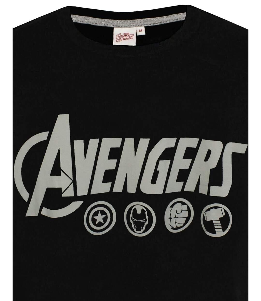 The Avengers Mens Logo Pyjama Set (Black/Grey) - UTNS6196