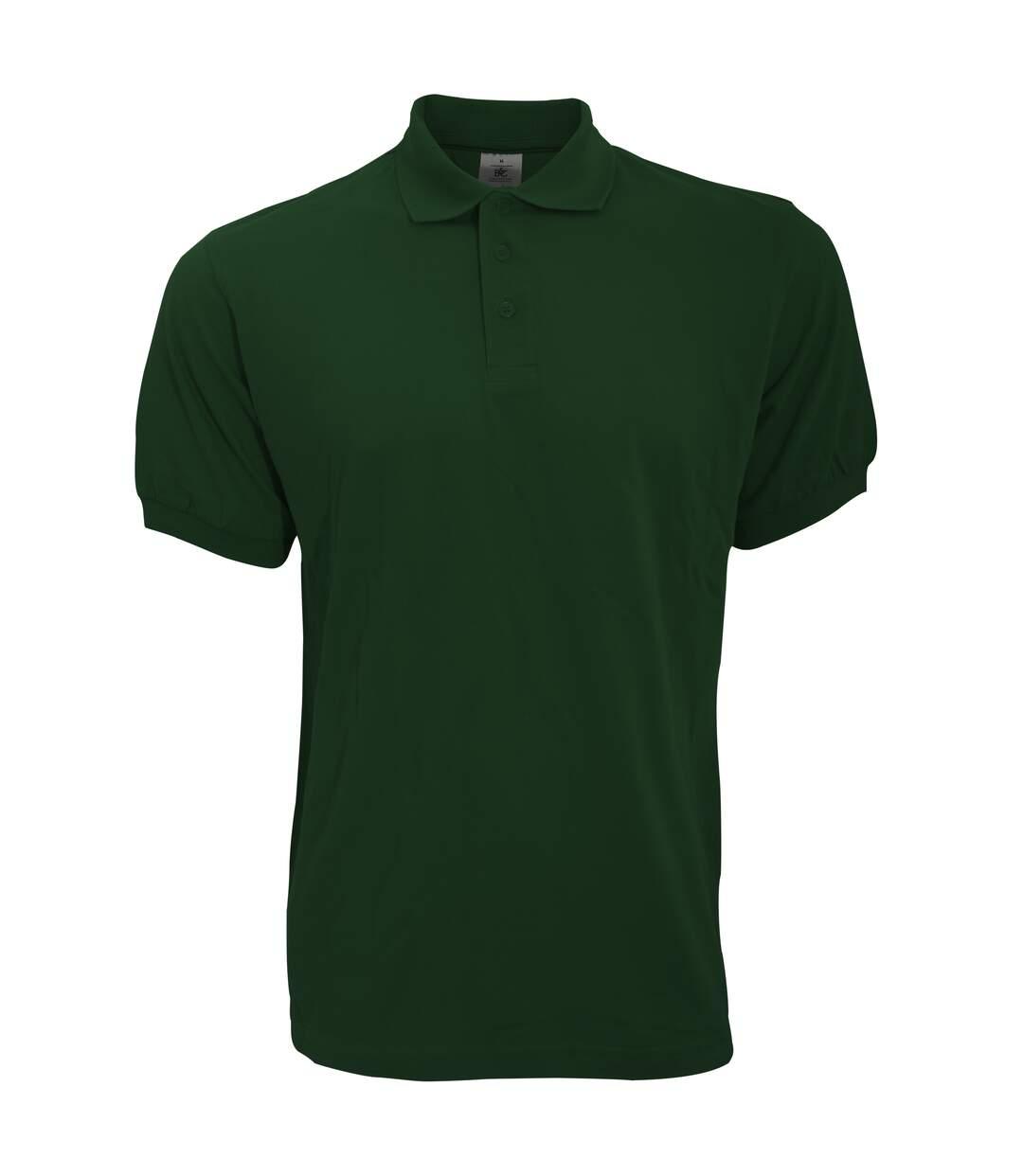 B&C Safran Mens Polo Shirt / Mens Short Sleeve Polo Shirts (Bottle Green) - UTBC103