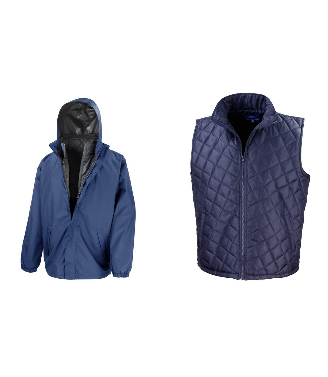 Result Mens Core 3-in-1 Jacket With Quilted Bodywarmer Jacket (Navy Blue) - UTBC908