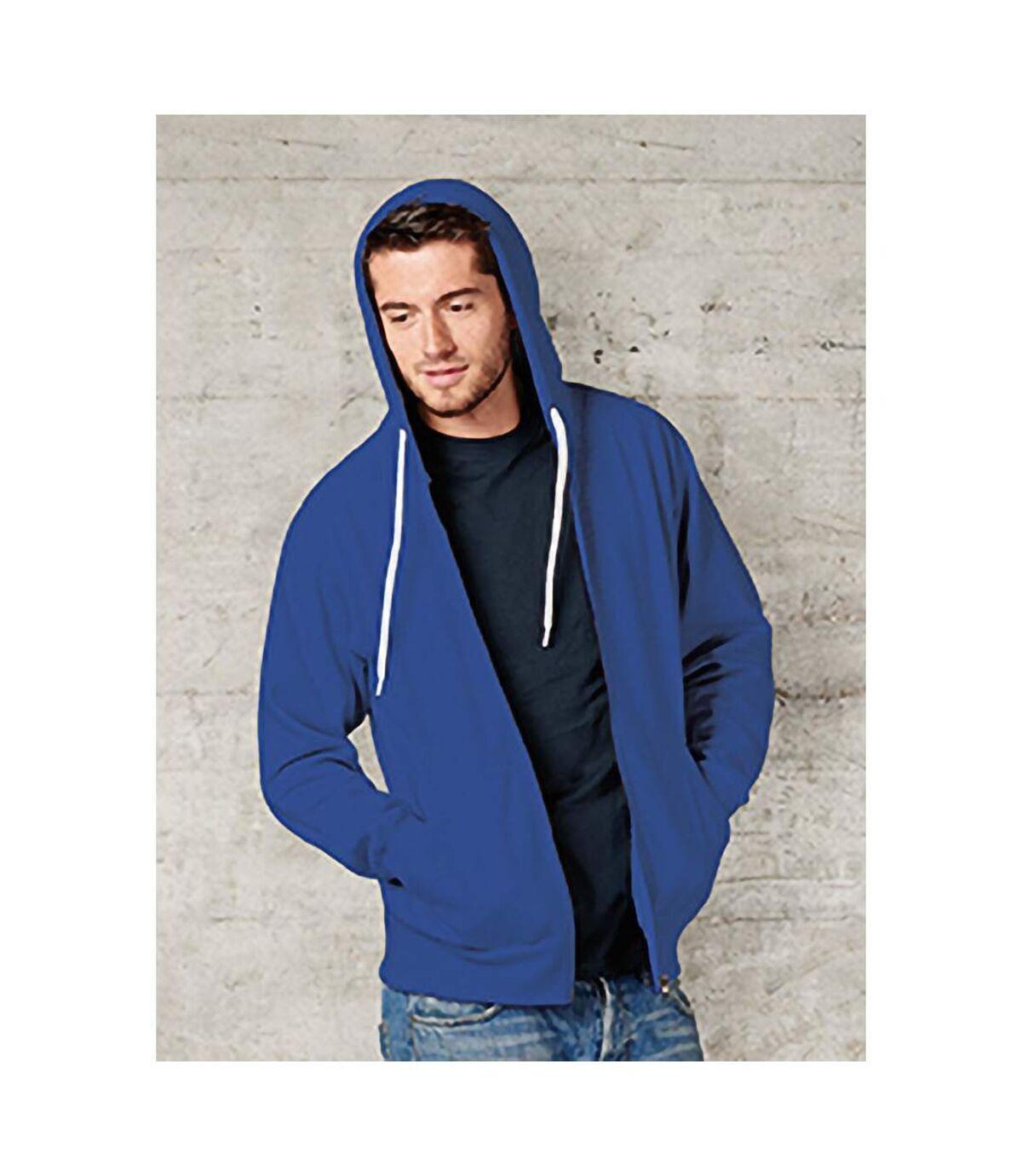 FDM - Sweatshirt à capuche et fermeture zippée - Homme (Bleu roi) - UTBC3184