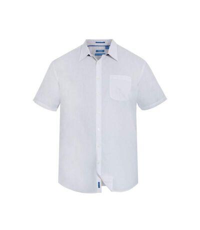 Duke Mens Delmar Kingsize D555 Short Sleeve Classic Regular Shirt (White) - UTDC204