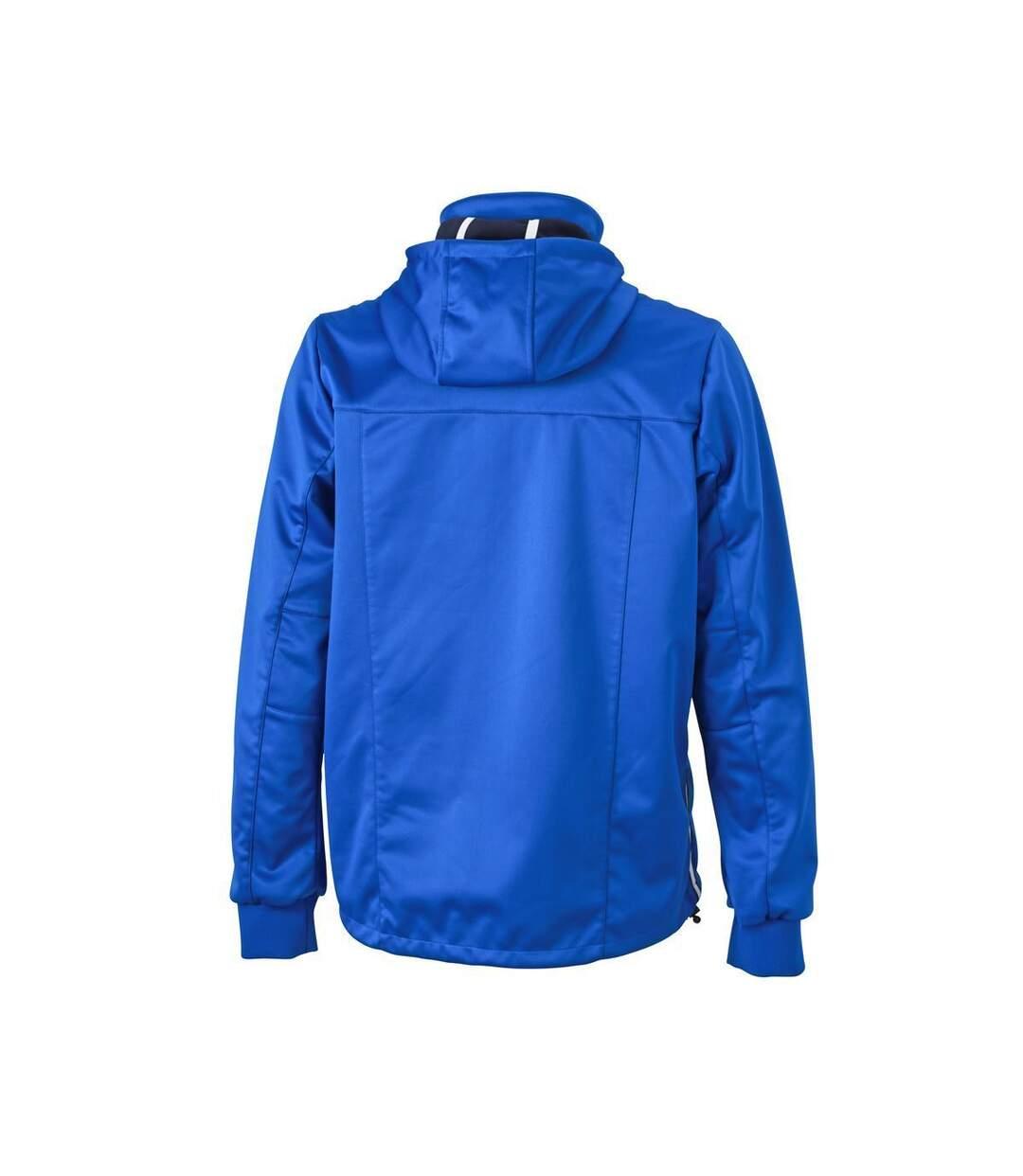 Veste softshell à capuche - homme JN1078 - bleu nautique - coupe-vent imperméable
