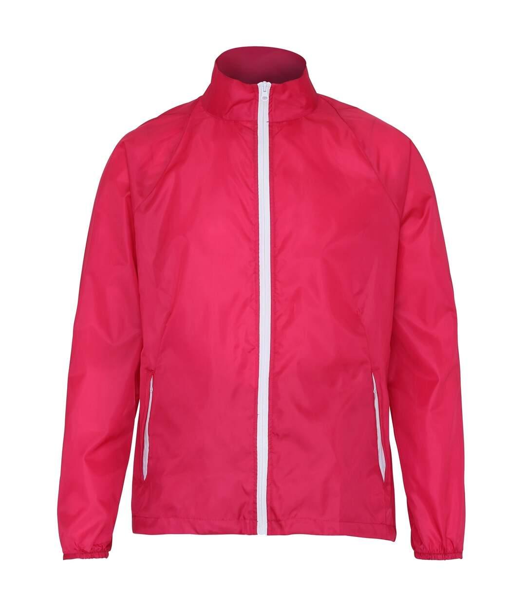 2786 Mens Contrast Lightweight Windcheater Shower Proof Jacket (Purple/ White) - UTRW2501
