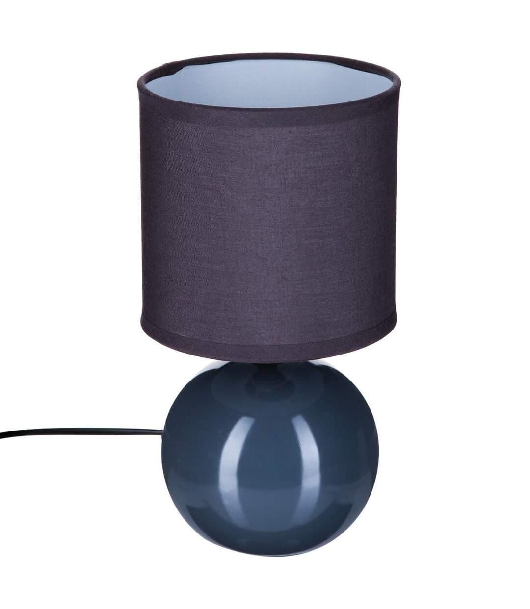 Atmosphera - Lampe en céramique Pied Boule Gris H 25 cm