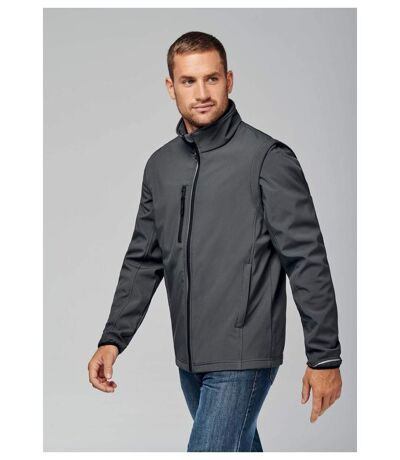 Veste softshell manches amovibles PA323 - gris - homme