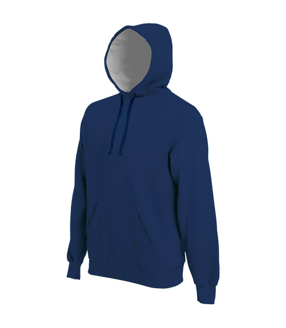 Kariban Mens Heavy Contrast Hooded Sweatshirt / Hoodie (Navy) - UTRW717