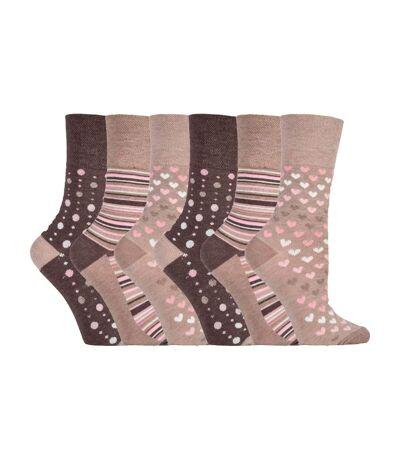 Gentle Grip 6 Pk Ladies Non Elastic Bamboo Socks