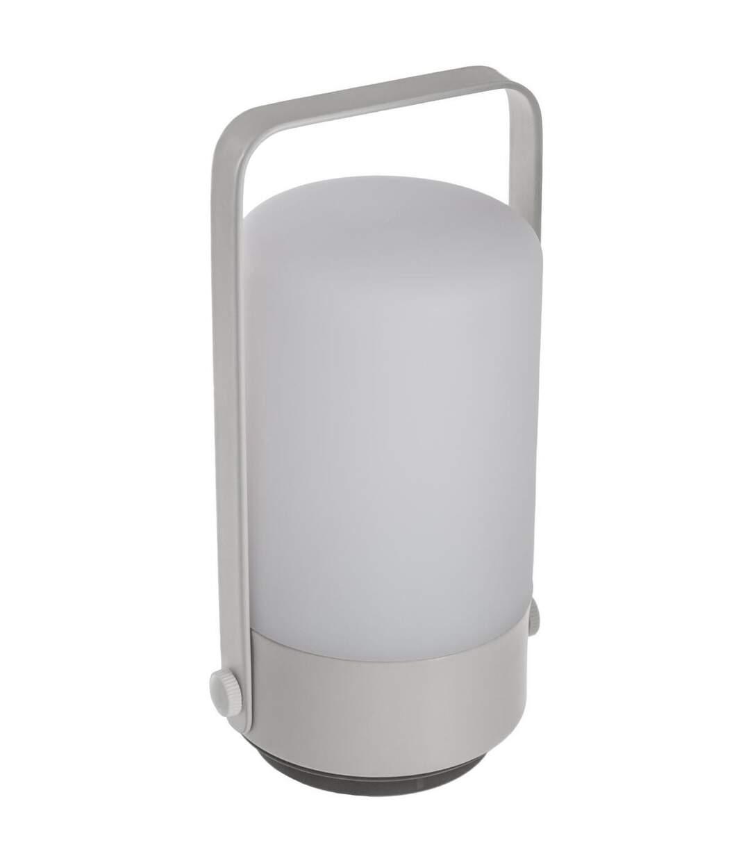 Atmosphera - Lampe lampion push LED gris H19