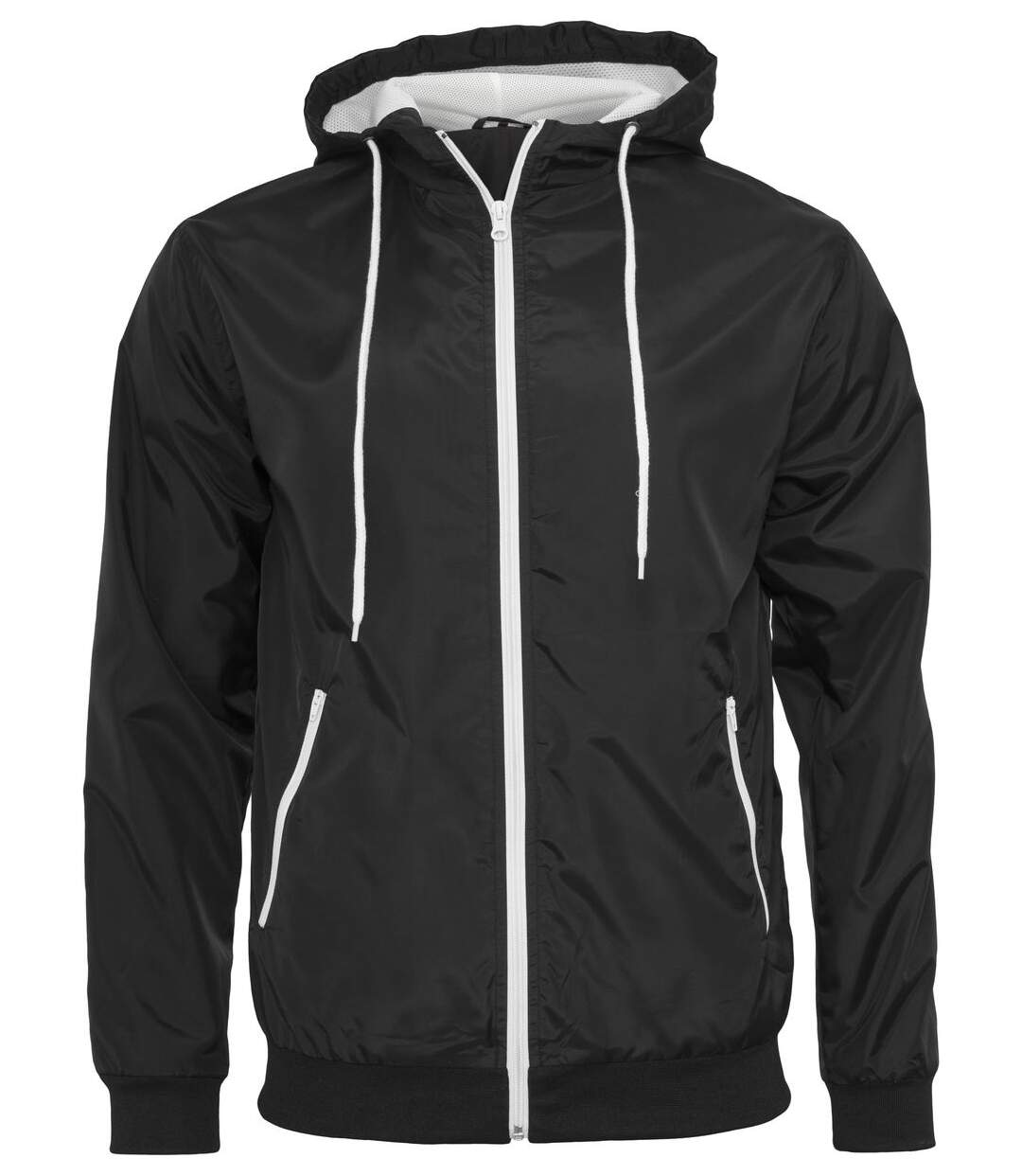 Coupe-vent style bomber - homme - BY016 - noir et blanc