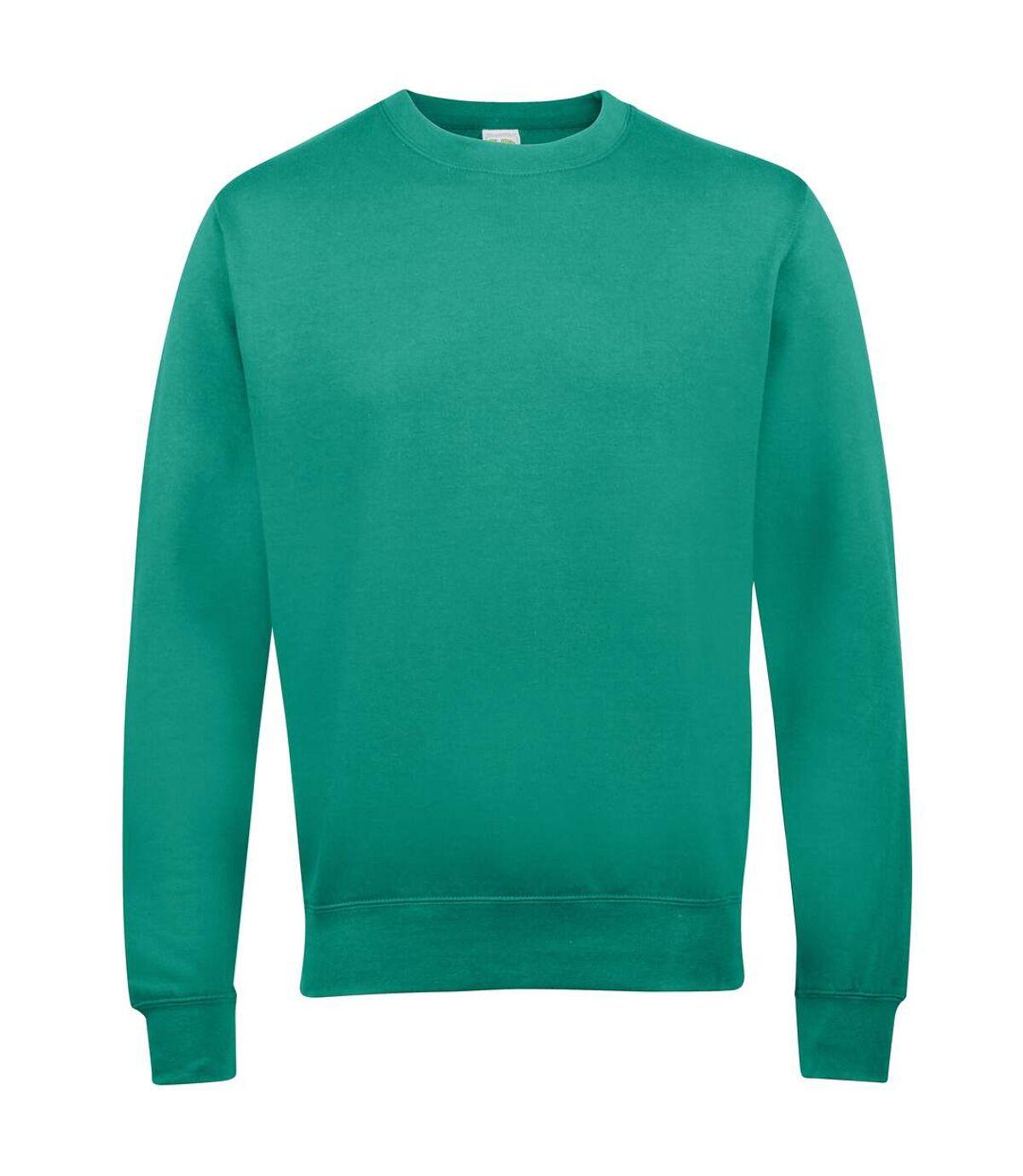 AWDis Just Hoods AWDis Unisex Crew Neck Plain Sweatshirt (280 GSM) (Red Hot Chilli) - UTRW2014