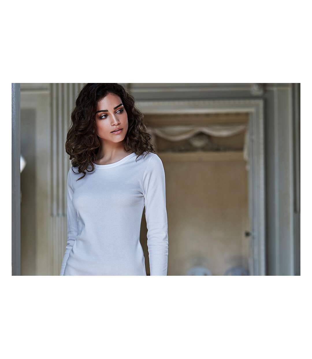 Tee Jays -  T-Shirt À Manches Longues 100% Coton - Femme (Blanc) - UTBC3322