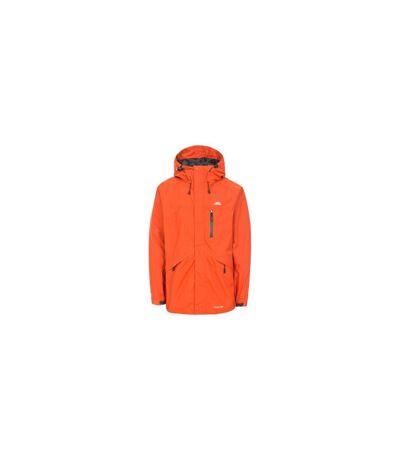 Trespass Mens Corvo Hooded Full Zip Waterproof Jacket/Coat (Burnt Orange) - UTTP296