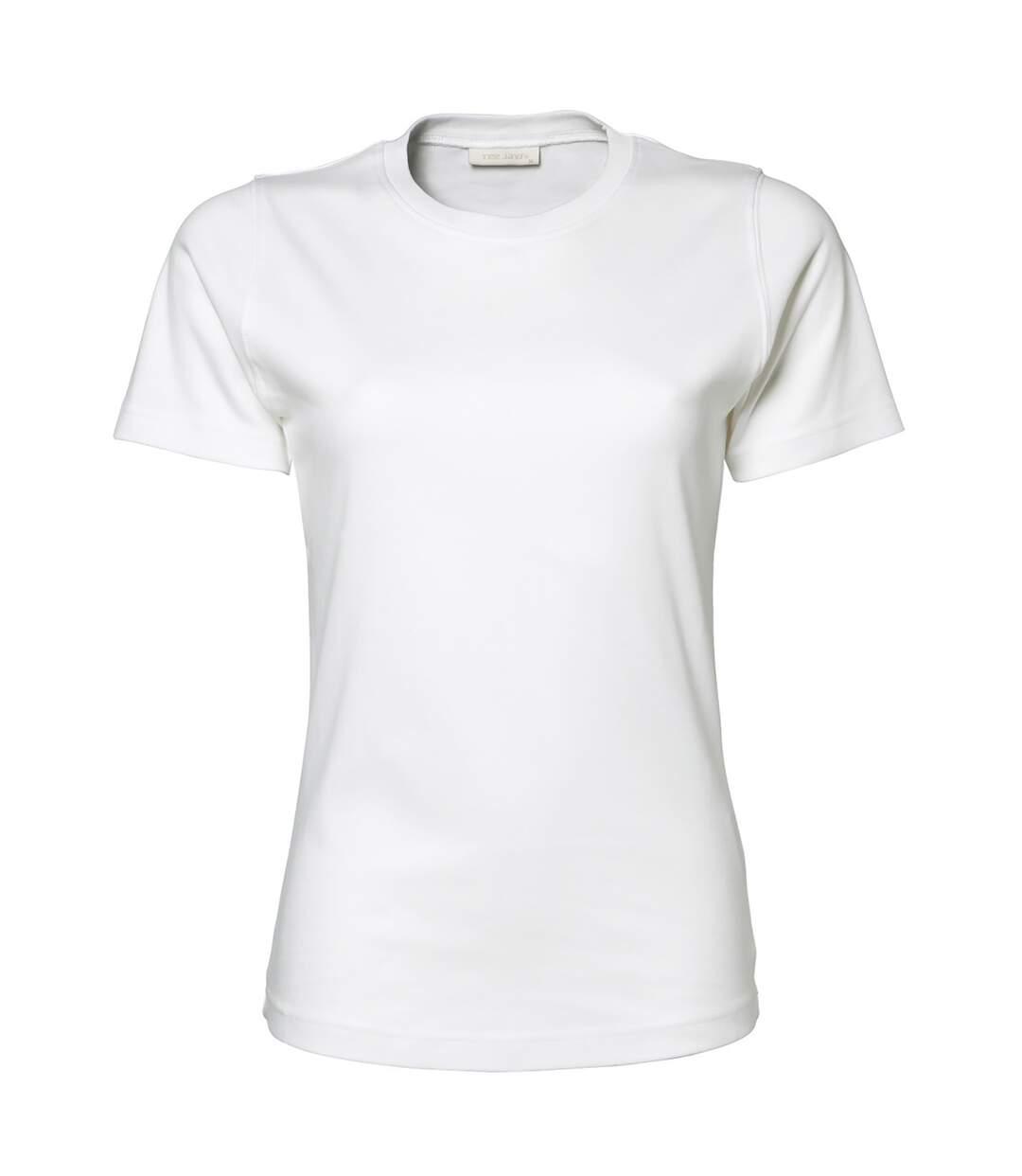 Tee Jays - T-Shirt À Manches Courtes 100% Coton - Femme (Blanc) - UTBC3321