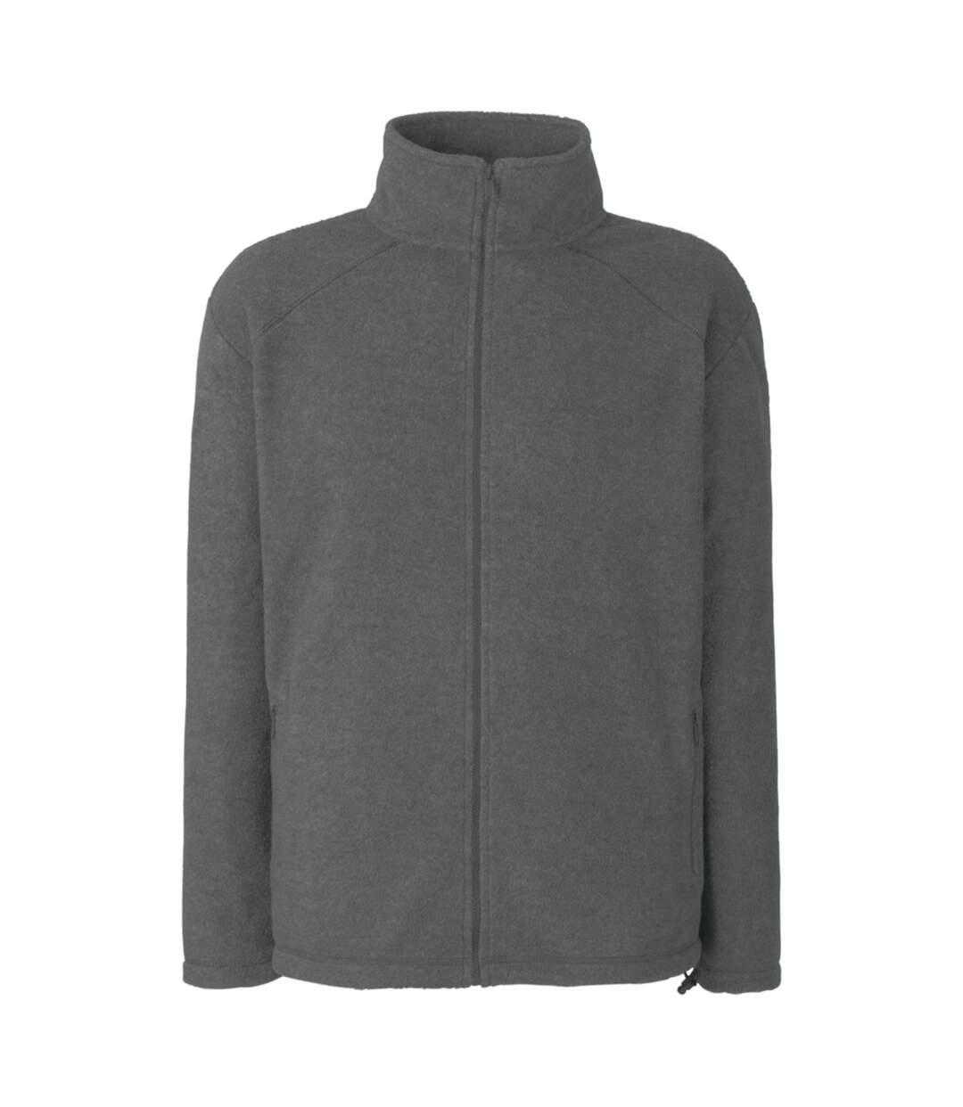 Fruit Of The Loom Mens Full Zip Outdoor Fleece / Top (Smoke) - UTBC372