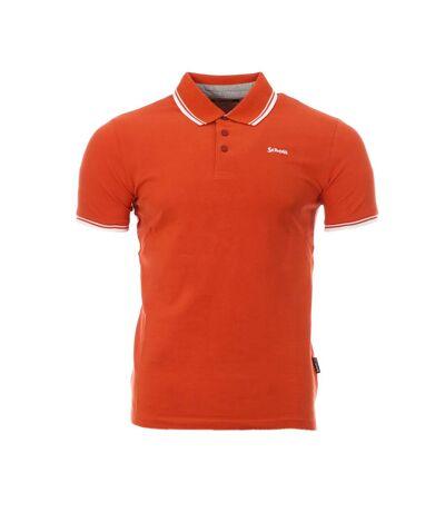 Polo Orange Homme Schott Bryan