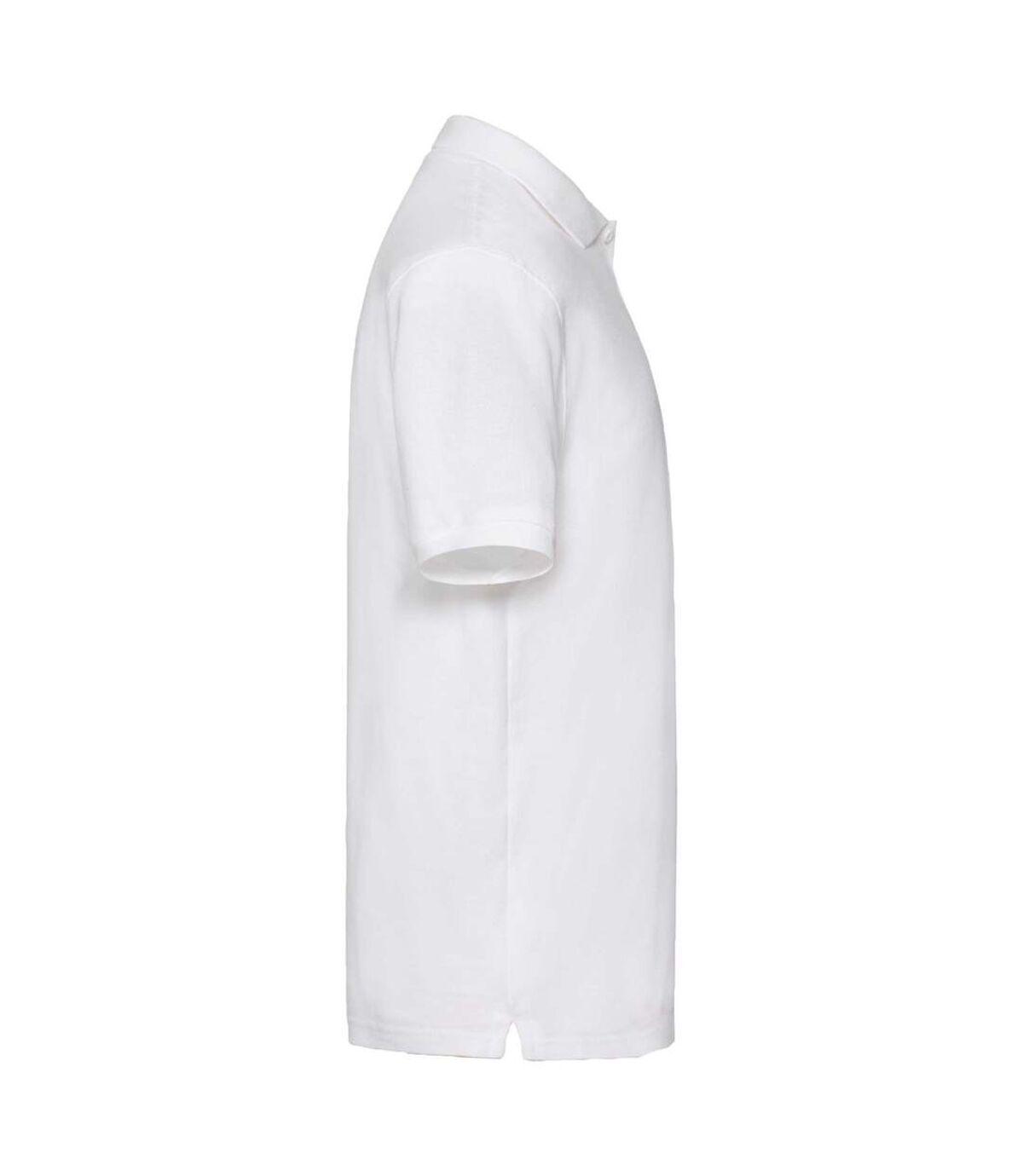 Fruit Of The Loom Premium Mens Short Sleeve Polo Shirt (White) - UTBC1381
