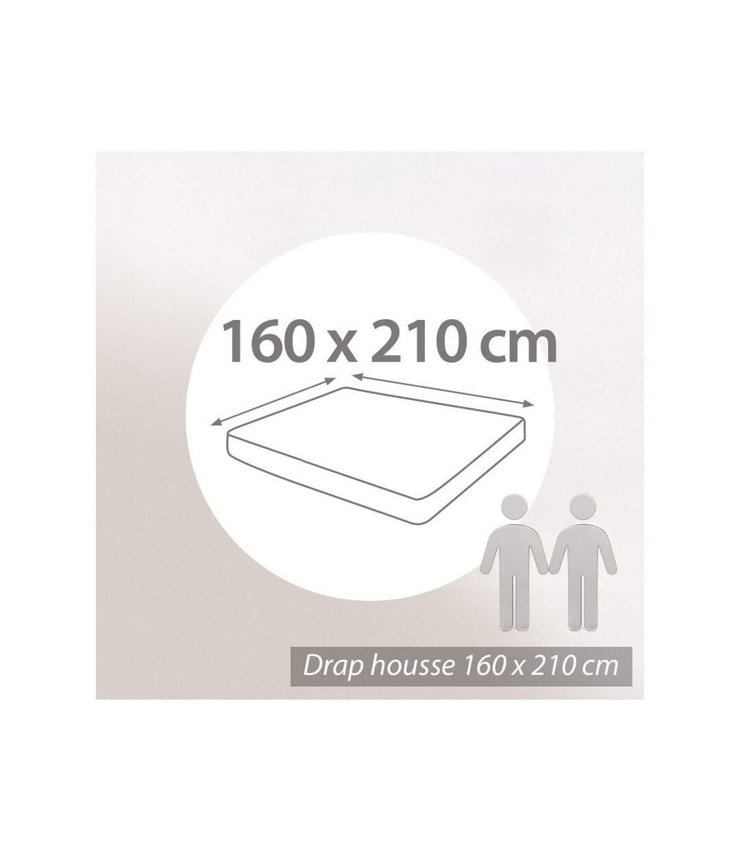 Protège matelas absorbant Antonin blanc 160x210 Grand Bonnet 30cm