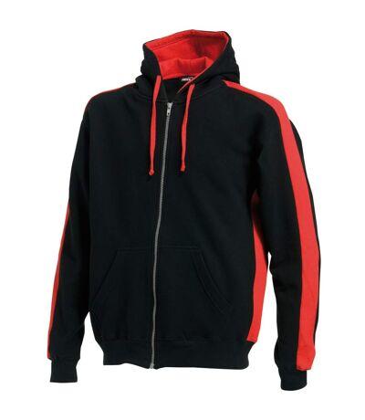 Finden & Hales - Sweatshirt à capuche - Hommes (Noir/Rouge) - UTRW421