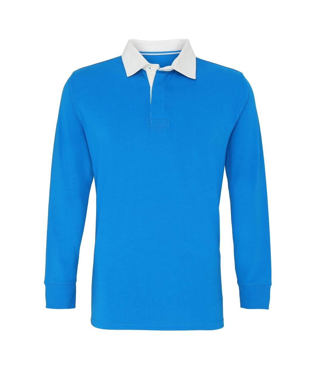 Asquith & Fox - Polo De Rugby Classique À Manches Longues - Homme (Bleu marine/Blanc) - UTRW3914