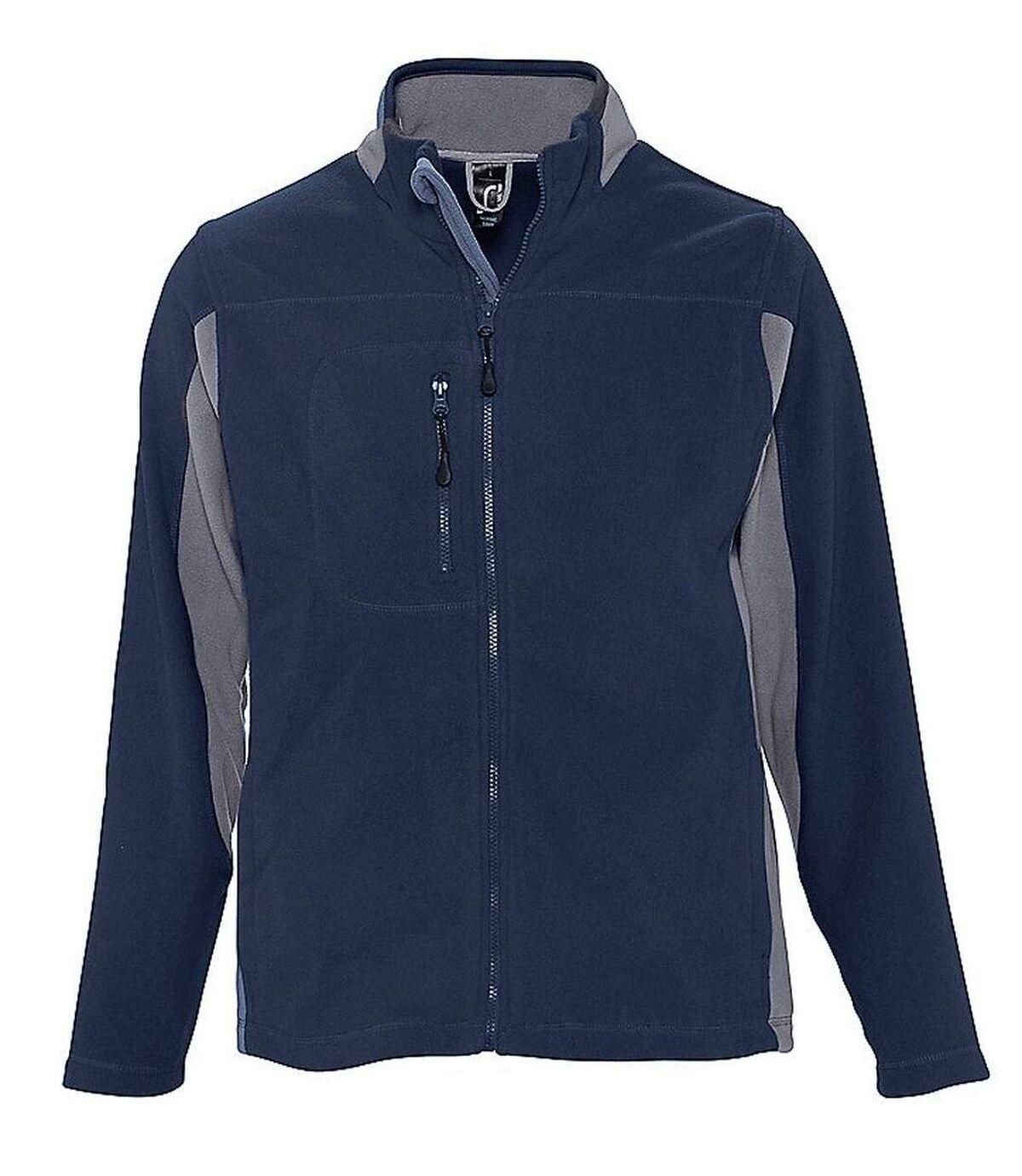 Veste polaire bicolore homme - 55500 - bleu marine