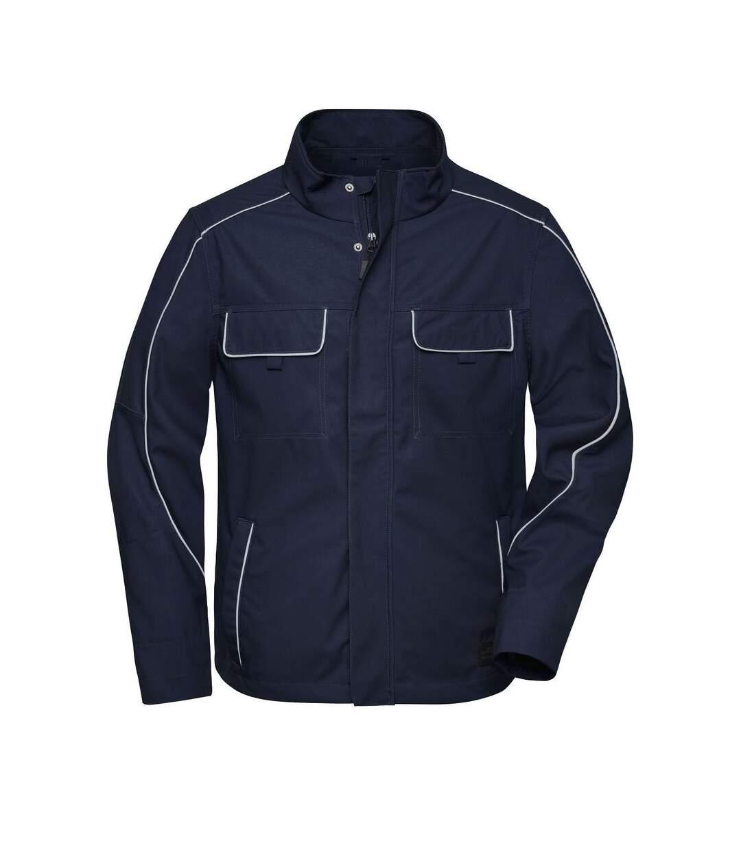 Veste de travail légere softshell - JN882 - bleu marine