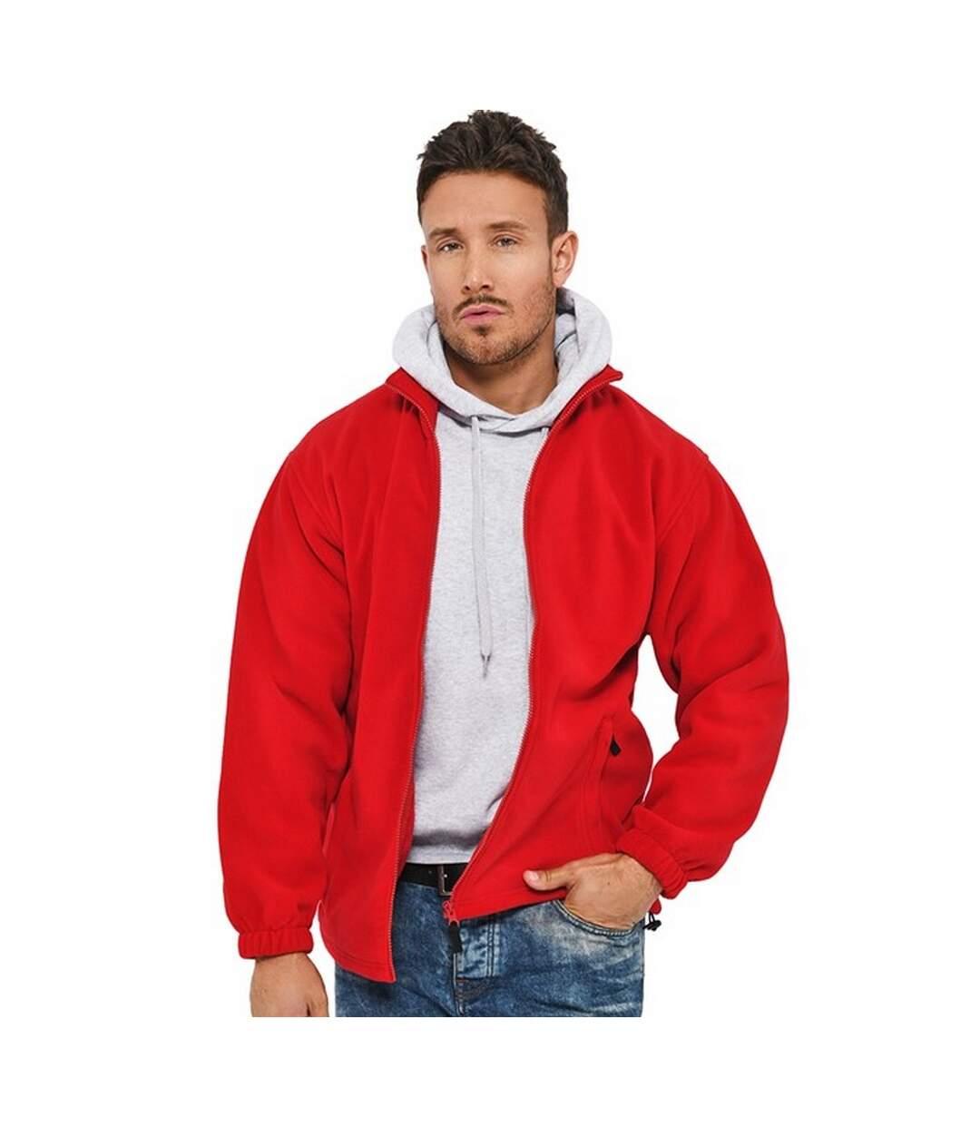 Absolute Apparel Heritage Full Zip Fleece (Red) - UTAB128