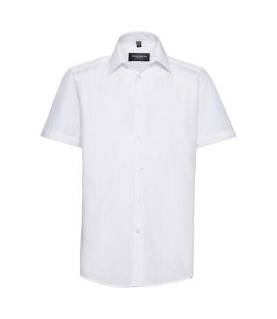Chemise à manches courtes Russell Collection pour homme (Blanc) - UTBC1020