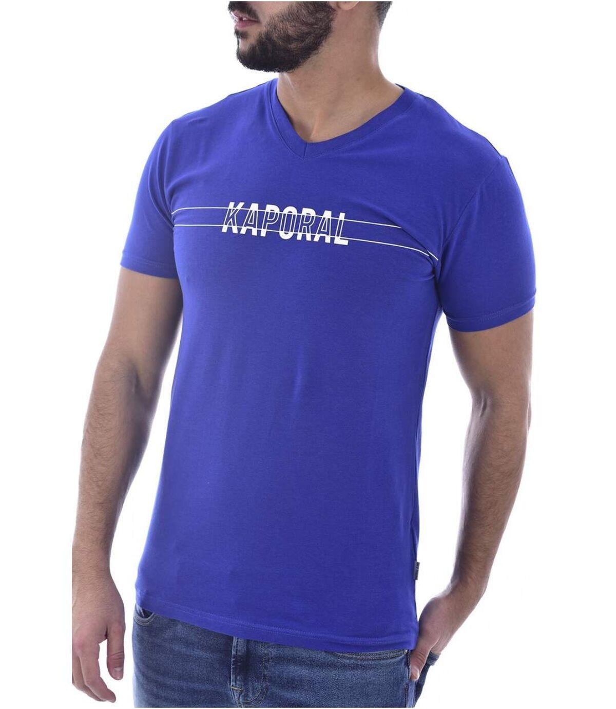 Tee shirt stretch à gros logo  -  Kaporal - Homme